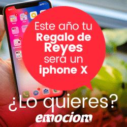 En esta Navidad Emociom será tu mejor regalo de reyes, Iphone X Participa y consíguelo.