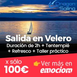 Para hasta 7 pax: Salida en Velero durante 2h + Tentempié + Refresco + Taller práctico