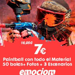 Emociom, Almería. ¡¡Al la batalla!! Paintball con todo el Material + 50 o 100 Bolas + Fotos + 3 Escenarios