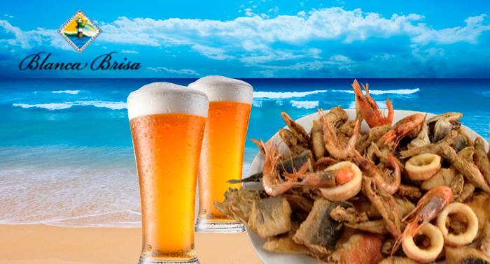 Para 2 pers: Fritura de Pescado o Paella de Marisco y 2 Bebidas, por 7,50€/pers en Cabo de Gata