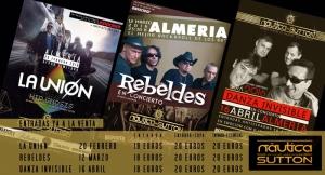 Bono para 3 conciertos: La Unión + Rebeldes + Danza Invisible + 3 copas