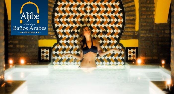 Baño Arabe Granada San Miguel:Relájate y disfruta con una sesión de Baños Árabes + Masaje + Té