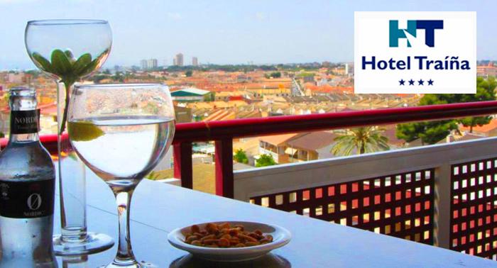Escapada para 2 al Mar Menor con Desayunos y Cena Buffet + Cócktail + Botella de Cava