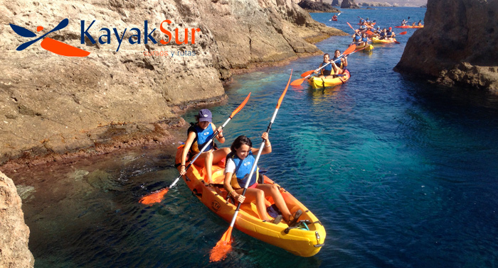 Ruta en Kayak por el Arrecife de las Sirenas Cabo de Gata + snorkel + Report. Fotográfico