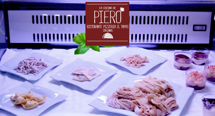 El Menú Italiano para 2 más tradicional en La Cocina de Piero, tu nuevo Ristorante en el Centro