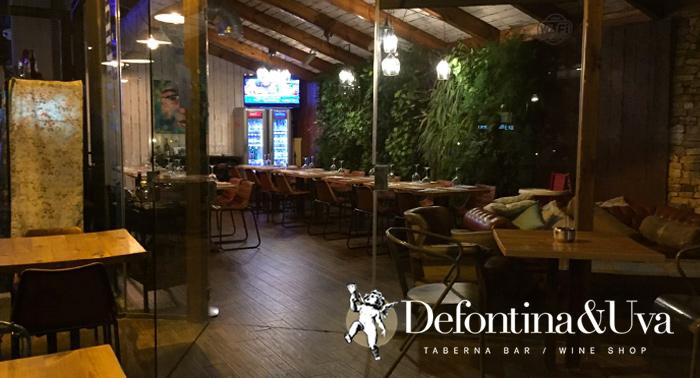 ¡Increible menú para 2! Postre, Bebidas y 5 Platos al centro en Defontina & Uva