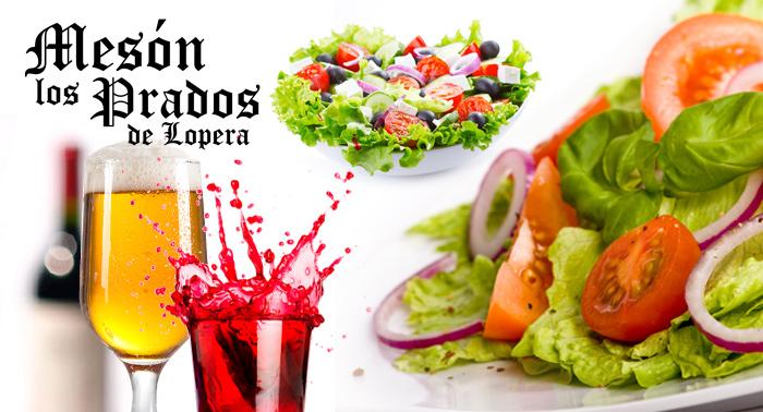 Disfruta los sabores de siempre en plena naturaleza con Mesón Los Prados de Lopera