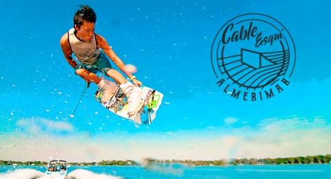 2 personas 30min: Esquí náutico, viaje en banana, wake skate, wakeboard, rosco...¡en Almerimar!