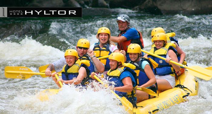 Escapada de aventura: Alojamiento + Rafting + Jacuzzi 30m + Masaje 10m