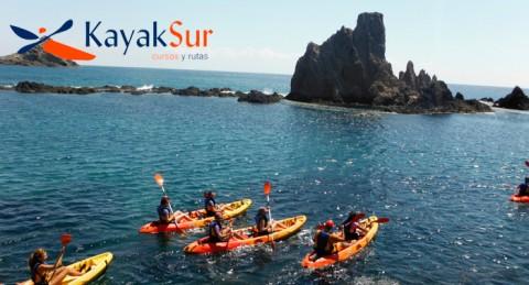Ruta Kayak La Fabriquilla - Arrecife de las Sirenas Cabo de Gata + snorkel + Rep. Fotográfico