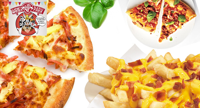 ¡¡Planazo en Warner Park!! Hamburguesa con patatas o Pizza + Ración Warner Cheese + Bebidas