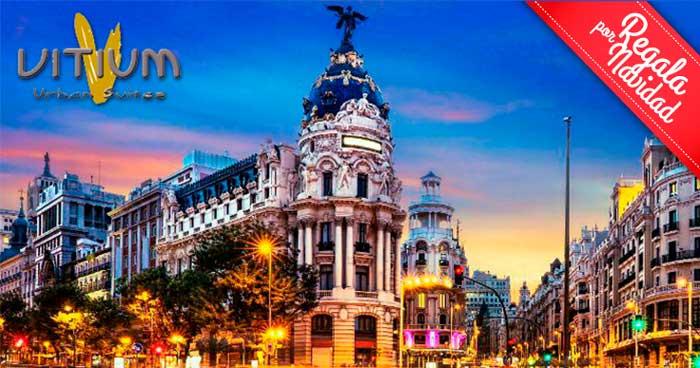 Esta Navidad regala alojamiento en Habitación Doble en Gran Vía de Madrid y Desayunos Buffet
