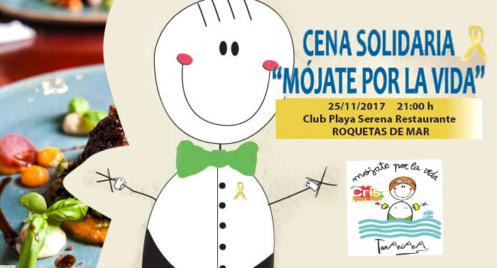 'Mójate por la vida', cena solidaria en Club Playa Serena