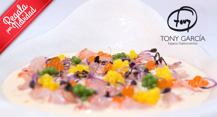 Para 2: Menú Degustación + Bebidas + Postre en Espacio Gastronómico del Chef Tony García