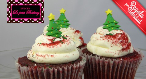 ¡¡Cupcakes Decorados en Le Petit Bakery para una Dulce y Deliciosa Navidad!!
