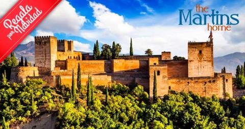 Regalo navideño: 2 noches + visita La Alhambra, Palacios Nazaríes… con guía + tapeo... para 2