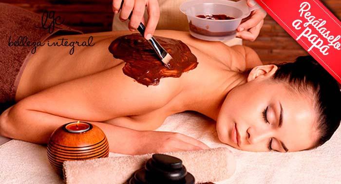¡Un dulce momento de relax para Papá! Masaje con Crema de Chocolate o Piedras Calientes