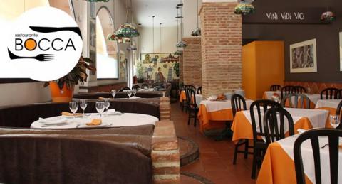 Menú Italiano para 2 personas: Botella de lambrusco + 1 Provolone + 2 Pizzas o Pastas