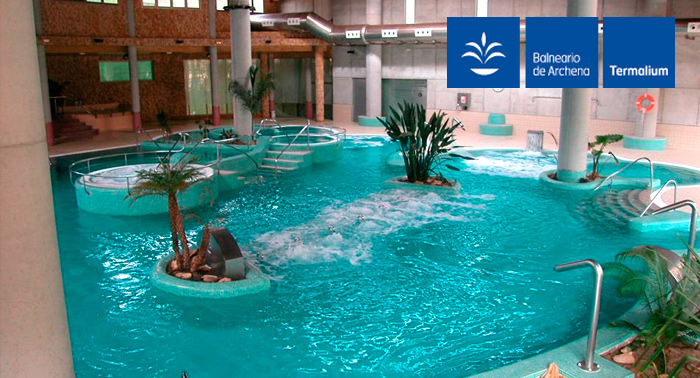 El efecto purificante del Agua: Día completo de Spa Piscinas Termales en Balneario de Archena