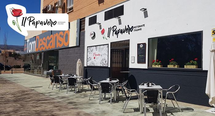 Viajad a la mítica Italia: 2 Bebidas + 2 Tripasti en Ristorante Il Papavero