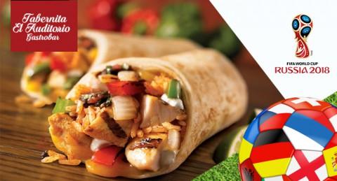 ¡Promoción mundial 2018! 4 Cañas Alhambra + 2 Burritos o Tacos Cordobeses + Patatas