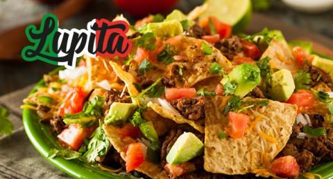 Sabor a México para 2: Nachos + 2 Burritos o Chimichanga o Quesadillas + Bebidas