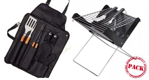 Saca el cocinero que llevas dentro: de Barbacoa Portátil Plegable + kit de 7 utensilios