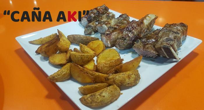 Parrillada de Carne o Fritura de Pescado + 2 Bebidas para 2 personas en Caña Akí