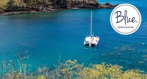 Para 4: Excursión en Catamarán durante 1 hora por la costa de Roquetas de Mar, sólo 7.50€/pax