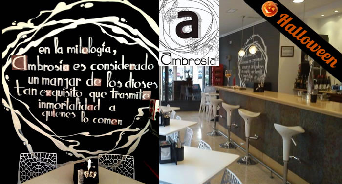 Disfruta de esta terrorífica comida en Ambrosía.Cazuela Ración + 4 tapas +  4 bebidas + Postre.