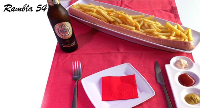 Fiesta Alemana: 2 Cervezas alemanas + Salchicha de 1/2 Metro ¡Y que siga la fiesta en Rambla 54!