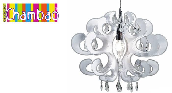 Ilumina  y decora tu hogar con esta preciosa lámpara, 2 colores disponibles