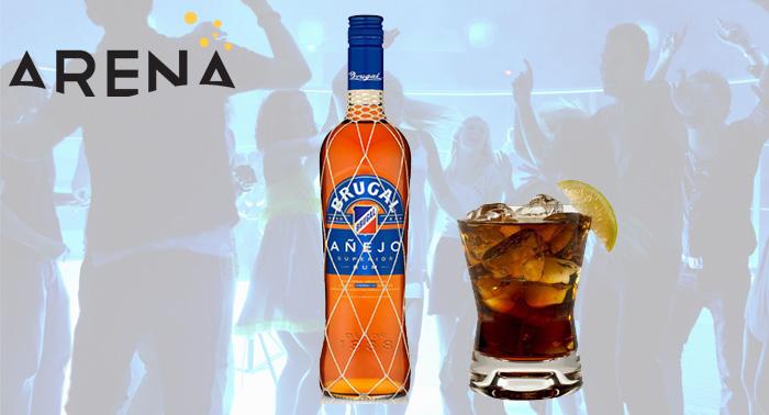 ¡Levanta tu copa! 1 o 2 botellas de Brugal Anejo+ refrescos + Botella de Cava y Tarta en Arena