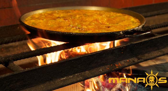 Deliciosa Paella a la Leña Mixta con Marisco + Bebida en San José