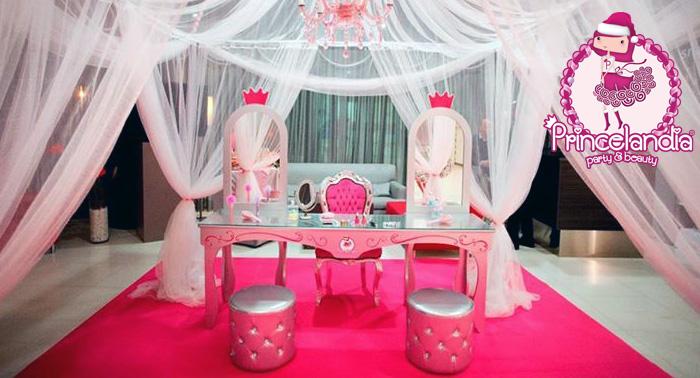 Fiesta temática de cumpleaños infantil con merienda, tarta, karaoke, sesión de belleza, spa...