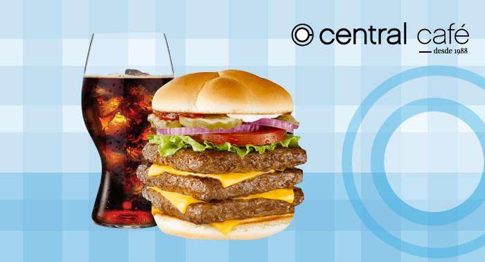 BIG Central Burguer: Hamburguesa triple + patatas + bebida sólo 3.95€ en el centro de Almería!!