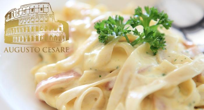 Pizza o Pasta con 1 Bebida por 7€. Disfruta de la mejor cocina Italiana en Augusto Cesare.