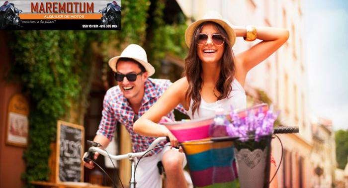 Alquiler de Moto y Bicicleta durante un día completo desde sólo 6€ ¡Sensaciones a dos ruedas!