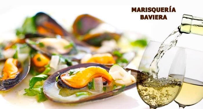 Ración de Mejillones, Boquerones o Secreto Ibérico con Botella de  Rueda o Vino Tinto Ribera