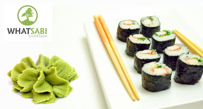 Bandeja Maki variado de 24 piezas para llevar o tomar en WhatSabi Sushi & Tapas