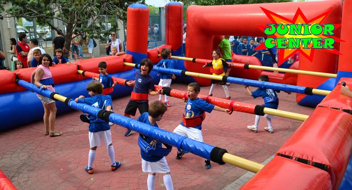 ¡Cumpleaños infantil a lo grande! Futbolín humano, Gymcana, Tiro con arco, Merienda, Tarta...