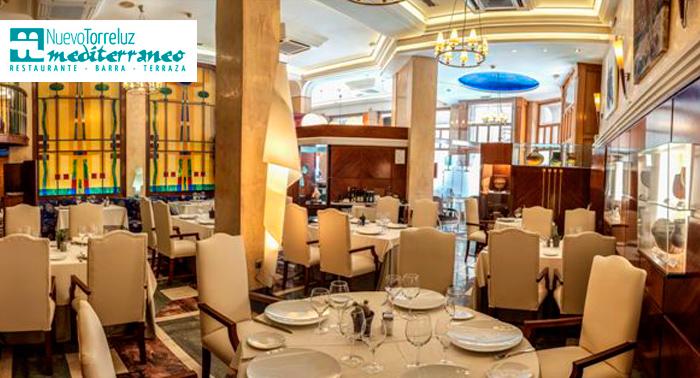 Menú para 2 con aperitivo, entrantes, platos, postre y bebidas en Rest Mediterráneo