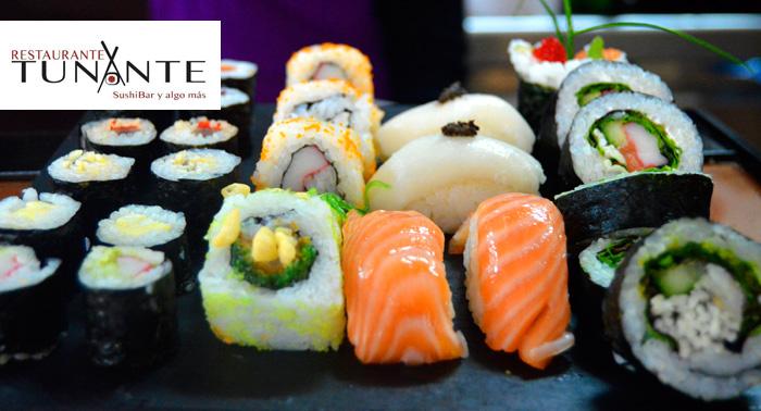 Restaurante Japonés:2 bebidas+ Tartar + Ensalada + 28 piezas de Sushi +1 postre por sólo 21,50€