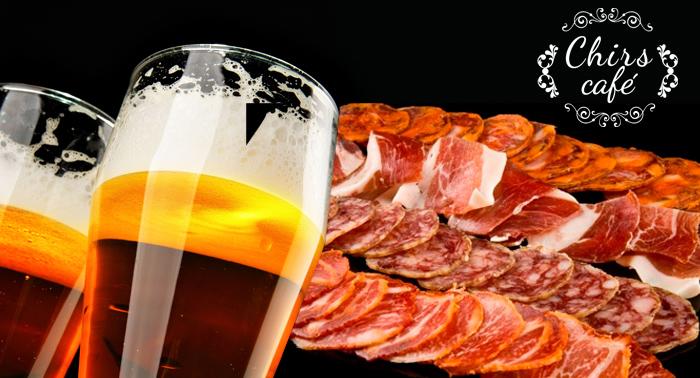 6 Tapas + Tabla de ibéricos + Ración de tomate + 6 bebidas o botella de vino por 15€.¡A tapear!