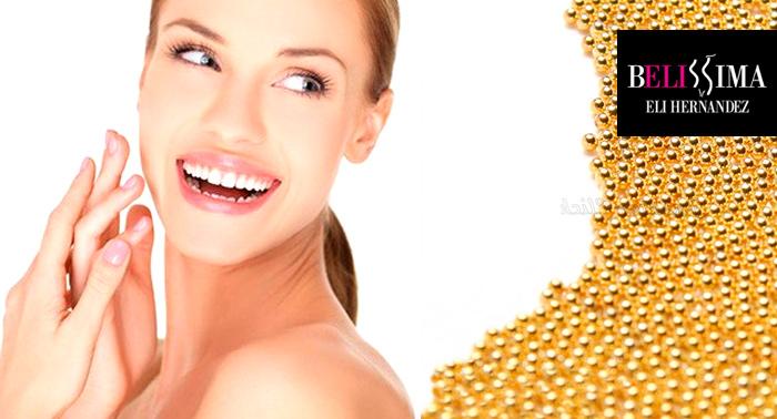 Pack completo: Tratamiento facial Luxe Gold + Vitamina C, manicura, pedicura, masaje...