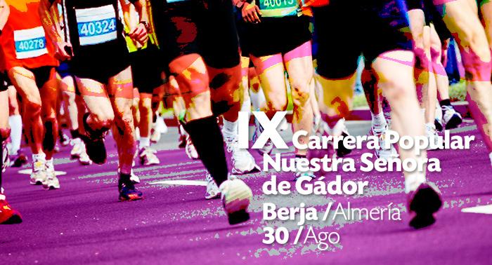 Inscríbete a la IX Carrera Nª Sª de Gádor en Berja. ¡Circuito de 10 km para un plan saludable!