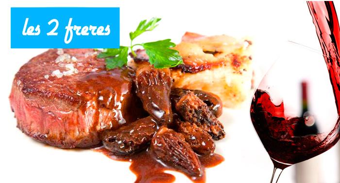 Menú degustación Francés de 6 platos con Postre + Bebida y pan