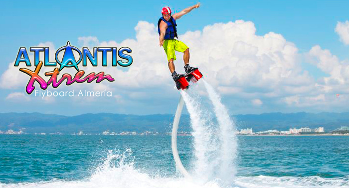 ¡A volar sobre el mar! Flyboard en Almería o Playa de Garrucha. Prueba ya este deporte de moda.