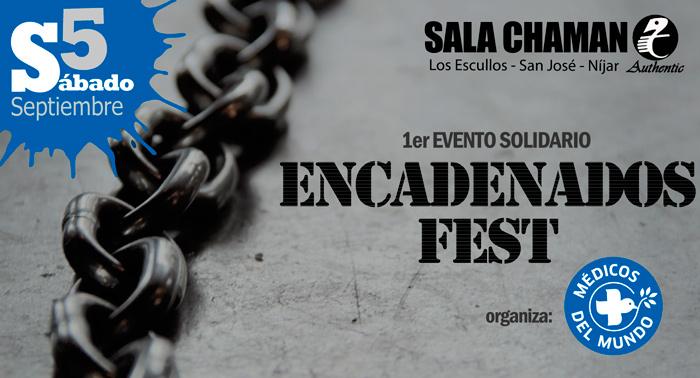Primer Evento solidario Encadenados Fest: conciertos, talleres, stands... En la sala Chamán