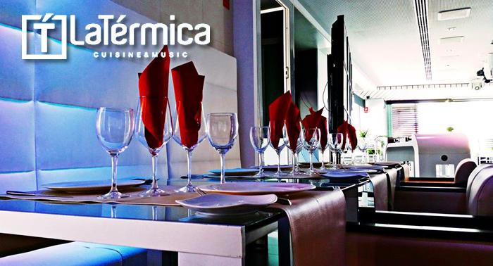 EN LA TERMICA para dos personas: 5 bebidas+5 tapas+Ración a elegir entre cinco solo 14.00€.